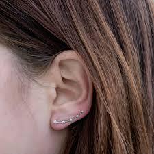 ear climber earring diamond ear climber earrings shane co