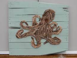 driftwood octopus on pallet boards diy pinterest driftwood