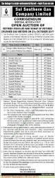 toyota company limited sui southern gas company limited pakistan auction notice in kawish