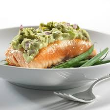 boursin cuisine light grilled salmon with avocado and boursin purée metro