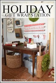 wrapping station ideas gift wrap station