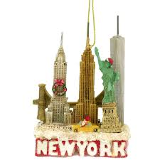 new york city landmark and skyline ornament