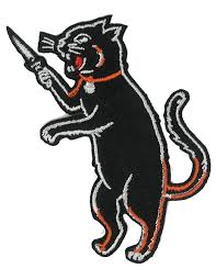 halloween patches cat fink iron on black cat patch switchblade dagger knife