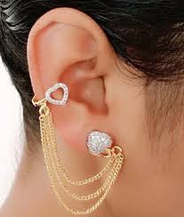 ear cuffs india youbella golden american diamond designer ear cuffs buy youbella