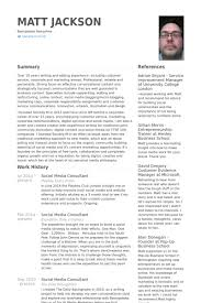 Consultant Resume Samples by Social Media Consultant Resume Samples Visualcv Resume Samples