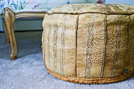 Ottoman Morocco Whisperwood Cottage Pouf Well Loved Vintage Moroccan Pouf Ottoman