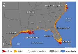 louisiana map global warming how global warming and rising seas will affect us coastal citiesmaptd