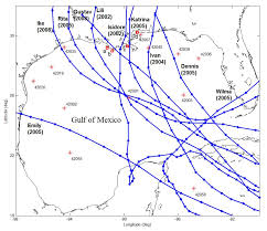 Hurricane Tracking Map Assessment Of A Parametric Hurricane Surface Wind Model For