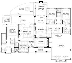 ranch home floor plans 4 bedroom craftsman style house plan 4 beds 4 baths 3048 sq ft plan 929 1