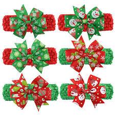 christmas headbands baby christmas headbands girl elastic crochet headband kids hair
