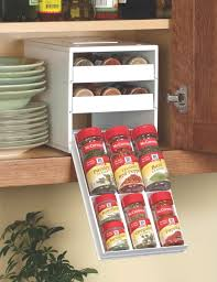 kitchen efficiently and easy access with pull down spice rack