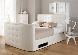 Ottoman White Bed Storage Bed Ottoman Storage Tv Bed Kaydian Windermere Cappuccino