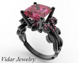 unique princess cut engagement rings pink sapphire engagement ring princess cut engagement ring unique