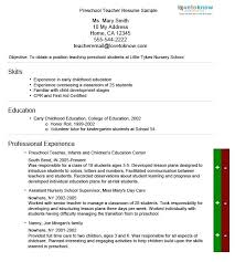 teachers resume exles this is daycare resume preschool resume sle for