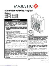 Fireplace Installation Instructions by Majestic 500dvb Manuals