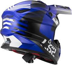 ls2 motocross helmet total sport ls2 light evo mx456 rallie blue