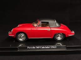 porsche 356 cabriolet porsche 356 cabriolet 1 6 super 90 1962 red 1 24 atlas 124041
