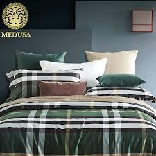 Green Plaid Duvet Cover Aliexpress Com Buy Luxury 60s Egyptian Cotton Sateen Golden