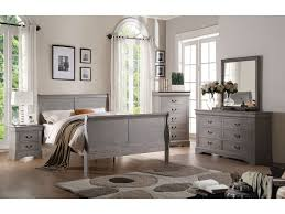 louis philippe antique gray queen size sleigh bedroom set
