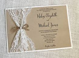rustic invitations rustic wedding invitation lace wedding invitation rustic lace