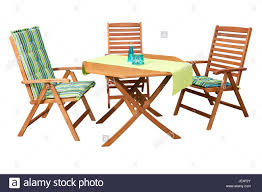 Folding Wooden Garden Table Set Of Folding Wooden Garden Furniture Table And 3 Chairs