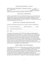 short term consulting agreement template in word and pdf formats