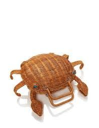 kate spade new york splash out crab wicker handbag brixton baker