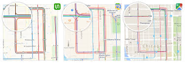 How To Draw A Route On Google Maps by Transit Maps Apple Vs Google Vs Us U2013 Transit U2013 Medium