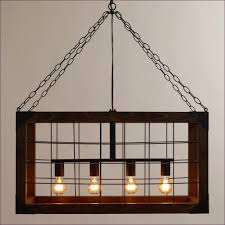 Bar Light Fixtures by Living Room Rustic Wood And Metal Chandelier Farmhouse Dining