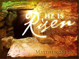 he is risen church powerpoint template easter sunday