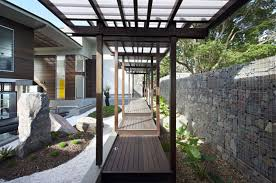 elegant courtyard design for modern japanese home decor with