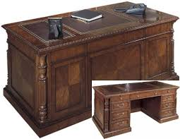 hekman desk leather top 72 solid wood executive desk with leather top fhd930 by hekman