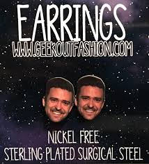 justin timberlake earrings justin timberlake is bae earrings by geekoutfashion on zibbet
