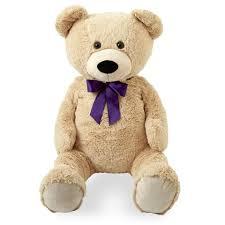 Teddy Bear Crafts For Kids Animal Alley 43 Inch Purple Bow Stuffed Teddy Bear Tan Toys