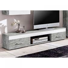 Wohnzimmerschrank T En Wohnwand Beton Weiß Anbauwand Wohnzimmer Tv Fernsehschrank