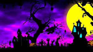 halloween background with purple 4k cartoon halloween background animation royalty free uhd
