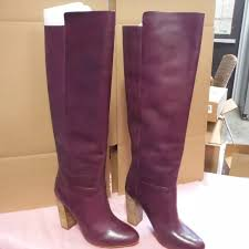 Plum High Heels 75 Off Kate Spade Shoes New Kate Spade Knee High Heel Leather