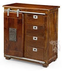 Slide Door Cabinet Hoot Judkins Solid Mango Four Drawer 1 Sliding Door Cabinet Kitchen