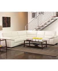 Spencer Leather Sectional Sofa Spencer Leather Sectional Sofa 3 Left Arm Facing Loveseat