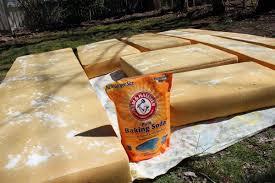 Washing Patio Cushions How To Clean Camper Cushions Baking Soda Vinegar Water Mix