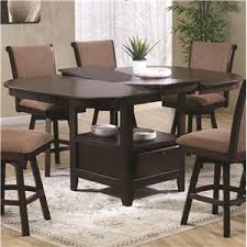 counter height dining table with swivel chairs crown mark harrison counter height table with 22 lazy susan royal