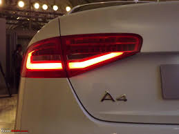 audi a4 tail lights 2012 audi a4 facelift launched 27 3 38 0 lakhs ex mh team bhp
