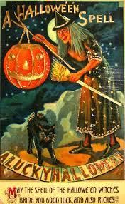 Halloween Poems About Witches Vintage Halloween Witch Postcards C 1900 U0027s Vintage Everyday
