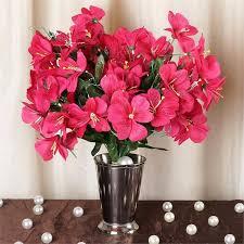 Silk Amaryllis Flowers - 96 silk amaryllis fushia efavormart