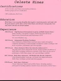 Instructor Resume Samples resume dance instructor resume