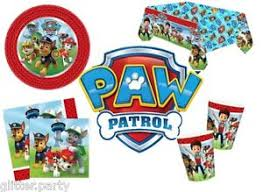 paw patrol boys party plates cups napkins tablecover hero