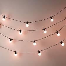bistro bulb fairy lights 20 bulbs the white company wall