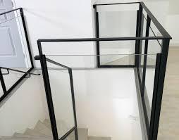 escalier garde corps verre garde corps rampes mains courantes acier inox alu