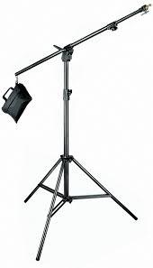 boom stand black aluminium with sandbag