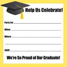 graduation open house invitation template free wedding